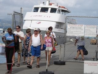 Cruz bay ferry tourists 1