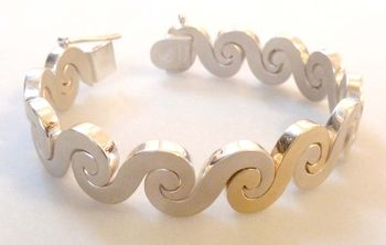 Seventh Wave sterling silver 14kt